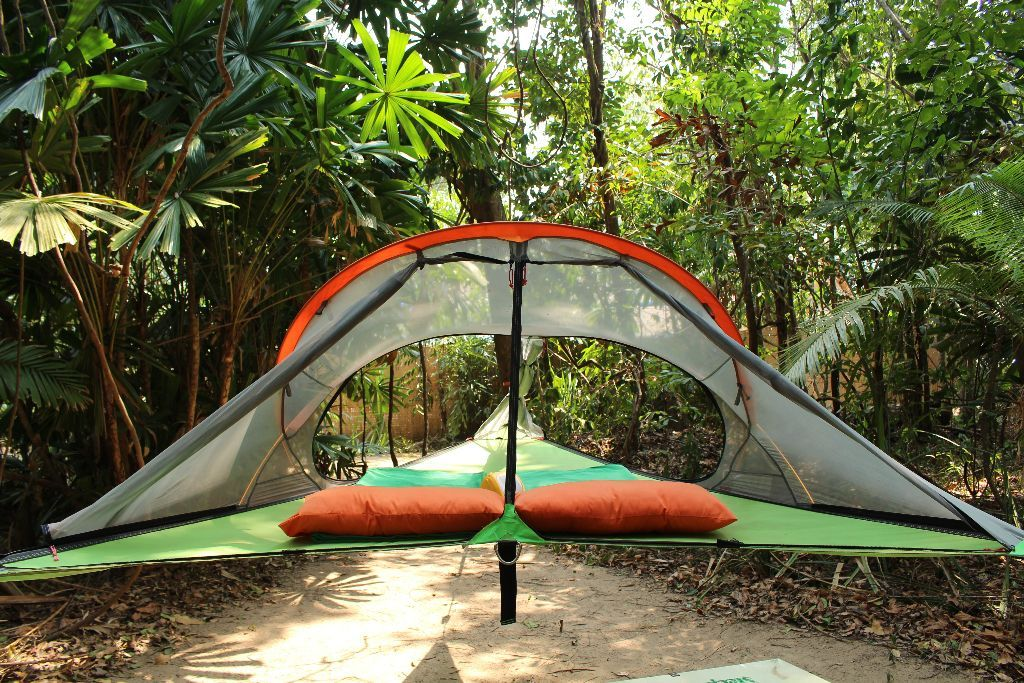 The hanging tentsile beach tents are set up in the trees right on the beach. These tents offer spectacular views of the ocean and the sunset right from your ... & Beach Tents u2013 Sleeping Trees